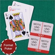 Poker Kartenspiel Fotokollage Vier Fotos Rot