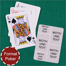 Poker Spielkarten Fotokollage Fünf Fotos