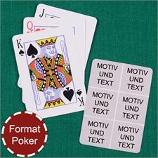 Poker Spielkarten Sechs Fotos Fotokollage