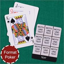 Poker Spielkarten Neun Fotos Fotokollage Schwarz