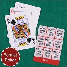 Poker Spielkarten Neun Fotos Fotokollage Rot