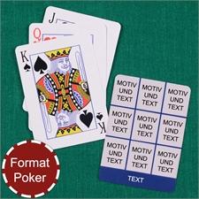 Poker Spielkarten Neun Fotos Fotokollage Navy