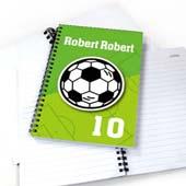 Personalisiertes Notizbuch für Sportler Fußball