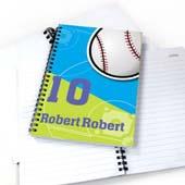 Personalisiertes Notizbuch für Sportler Baseball