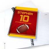 Pesonalisiertes Notizbuch für Sportstars Fußball
