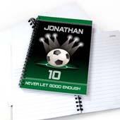 Personalisiertes Notizbuch für Sportstars Fußballspiel