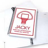 Personalisiertes Notizbuch Basketball Rot