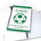 Personalisiertes Notizbuch Fußball Grün