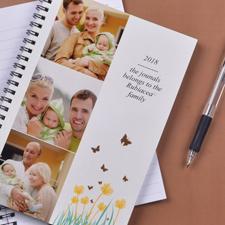 Foto-Notizbuch Dreier Kollage Frühlingsblumen