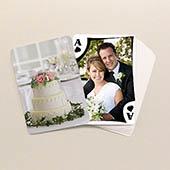 ZWeiseitig individualisierbare Foto-Spielkarten, Hochzeit und Hochzeitstag