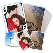 Individuelle Vorder- und Rückseite klassische Spielkarten, Valentinstag