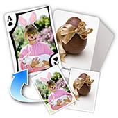 Osterfest beidseitig individualisierbare Spielkarten