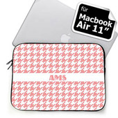 Initialisierte Pink Houndstooth MacBook Air 11 Tasche