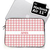 Initialisierte Pink Houndstooth MacBook Air 11 Tasche