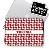 Roter Hahnentritt mit Namen MacBook Air 11 Tasche