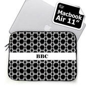 Ihre Initialen Schwarze Links MacBook Air 11 Tasche