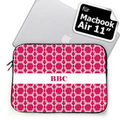 Initialisierte Hot Pink Links MacBook Air 11 Tasche