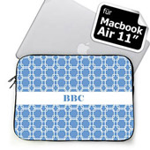 Himmelblau personalisierte Links MacBook Air 11 Tasche