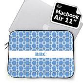 Himmelblau personalisierte Links MacBook Air 11 Tasche