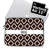 Initialisierte Schoko MacBook Air 11 Tasche