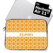 Ihre Initialen Orange MacBook Air 11 Tasche