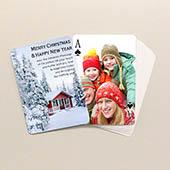 Personalisierbare Weihnachts Spielkarten Beidseitig gestalten