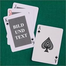 Poker Kartenspiel Standardschrift Rot
