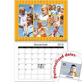 Kleine Steifen Wandkalender 35,6 cm x 27,9 cm