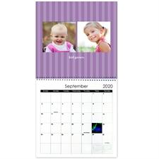 Kleine Streifen Quadratischer Wandkalender 30,5 cm x 30,5 cm