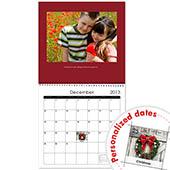 Roter Wandkalender Quadratisch 30,5 cm x 30,5 cm