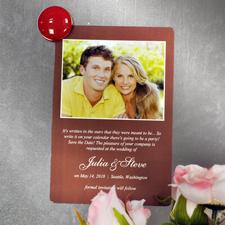 Einladung Hochzeit Schoko Hochformat Fotomagnet 10,16 x 15,24 cm