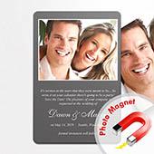 Einladung Hochzeit Grau Fotomagnet