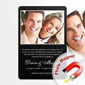 Einladung Hochzeit Schwarz Fotomagnet 10,16 x 15,24 cm