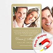 Einladung Hochzeit Gold 10,16 x 15,24 cm