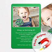 Einladung Geburtstag Grün Fotomagnet 10,16 x 15,24 cm