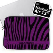Purple Zebra SchwarzLila Personalisierte MacBook Air 13 Tasche