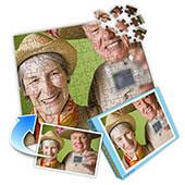 Foto-Puzzle Pensionierung, horizontal
