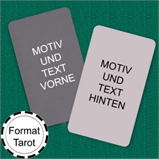 Tarot Format Personalisierbares Kartenspiel (Blanko)