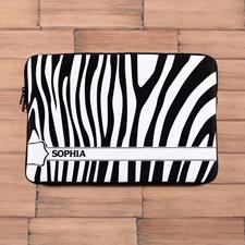 Zebra Schwarz und Weiß mit Namen MacBook Pro 15 Tasche (2015)