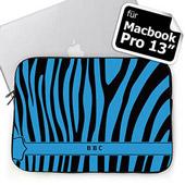 Blaues Zebra Personalisierte Black & Blue Zebra MacBook Pro 13 Tasche (2015)