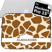 Braune Giraffe Personalisierte MacBook Pro 15 Tasche (2015)