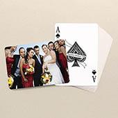 Individualisierte Hochzeits- und Hochzeitstags-Spielkarten, horizontal