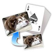 Individuelle Tierfoto Spielkarten, horizontal