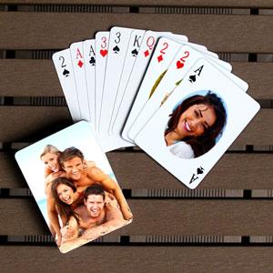 Ovale individuelle Vorder- und Rückseite Spielkarten, Ich liebe Dich