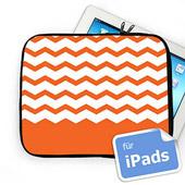 Zickzack Orange Initialen iPad Tasche