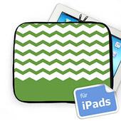 Grünes Zickzack Personalisierte iPad Tasche