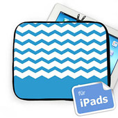 Zickzack Himmelblau Personalisierte iPad Tasche