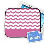 Zickzack Pink Personalisierte iPad Tasche