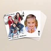 Weihnachtsspielkarten mit ovalem Portrait Beidseitig gestalten