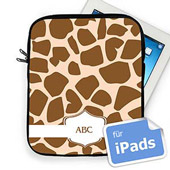 Braune Giraffe Personalisierte Initialen iPad Tasche